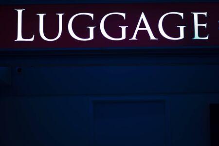 symbolic: Aiport luggage baggage sign photo. Stock Photo