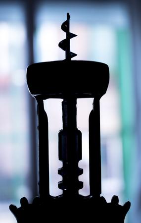 cork   screw: Cork screw wine bottle opener photo. Stock Photo