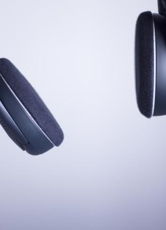 deejay: Professional dj studio deejay wifi wireless cable free headphones photo isolated. Stock Photo