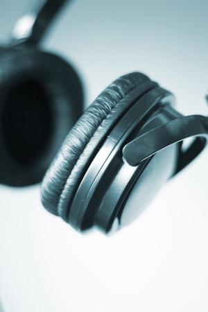 deejay: Professional dj studio deejay headphones photo isolated.