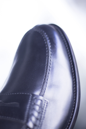 brogues: Mens black leather luxury hand made formal shoes photo Stock Photo