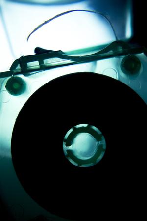 waxed: Dental hygiene waxed tape mint floss used to clean teeth and keep dental hygiene photo. Stock Photo