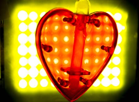 color photo: Valentines Day love heart shape artistic color photo.