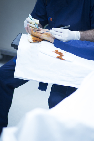ortopedia: Foto operación ortopedia cirugía del Hospital mano.