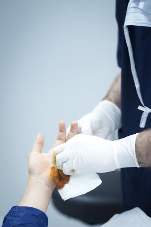 orthopaedics: Foto operaci�n ortopedia cirug�a del Hospital mano.