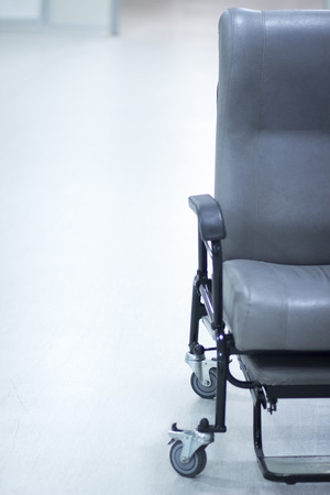 wheel chair: Hospital surgery emergency operating room wheel chair photo. Stock Photo