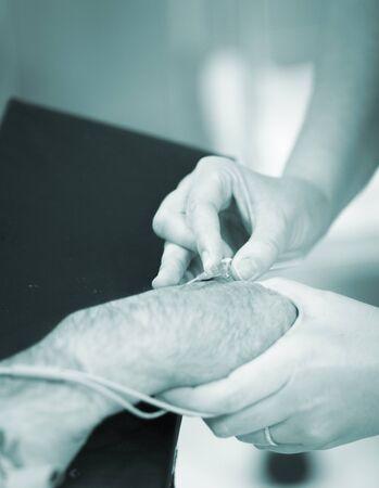 orthopedics: Hand and arm surgery orthopedics operation emergency operating room photo.