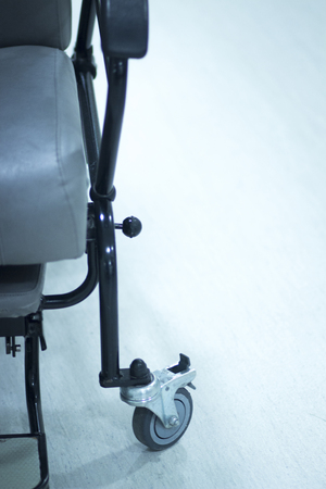 Hospital surgery emergency operating room wheel chair photo. Stock Photo