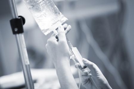 Hospital surgery emergency operating room surgical liquid drip equipment photo. Stock Photo
