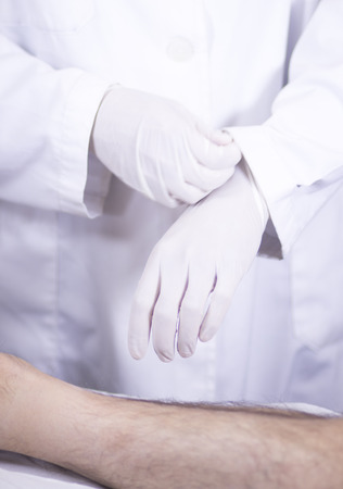 orthopedic: Traumatology and orthopedics surgeon in doctor and patient orthopedic medical examination consultation of foot, ankle and toes in hospital clinic.