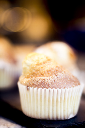 high calorie foods: Cake dessert sweets in store photo. Stock Photo