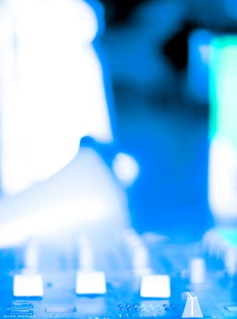 deejay: Deejay mixing desk house music dj party in Ibiza Nightclub.