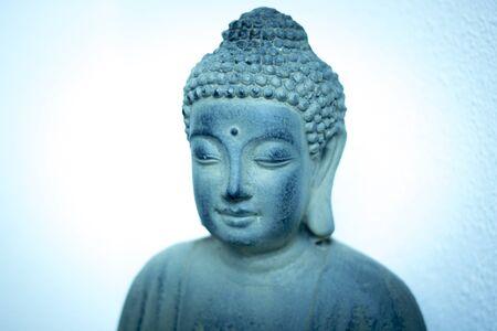 Buddha buddhist statue head photo  in Ibiza nightclub bar.