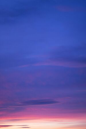 color photo: Sunset blue sky with clouds color photo.