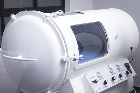 HBOT hyperbaric oxygen therapy chamber tank in hopsital medical center clinic.