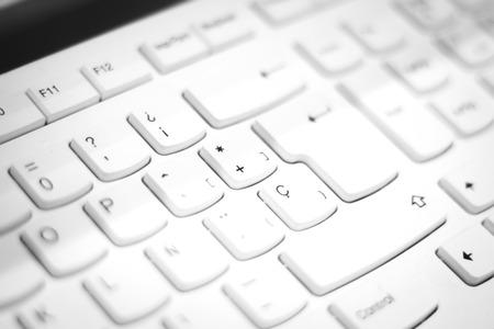keypad: Personal computer pc external keyboad keys in Spanish format keypad isolated photo. Stock Photo