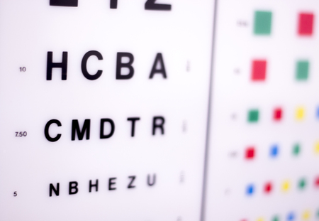 Opticians Ophthalmology And Optometry Eye Test Chart To Test Stock