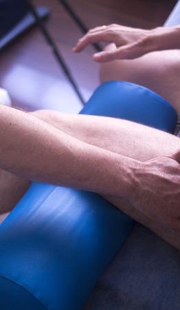 膝 inury リハビリテーション患者の理学療法士による理学療法マニュアル理学療法治療。