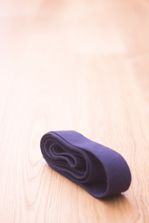 Yoga pilates and body & mind studio gym fitness room and belt strap for group classes.