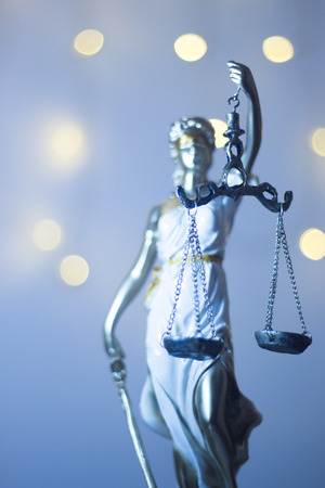 Lawyers legal office law statue representing blind justice courts figure with scales and sword