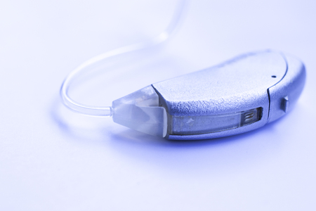 Digital modern technology hearing aid device to help the deaf and har of hearing.