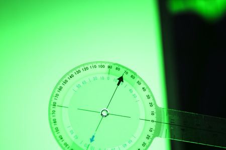 Goniometer movement medical instrument used for measuring mobility of joints, tendons nd ligaments of patients.