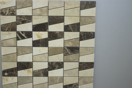 Kitchen bathroom tiles showroom display of new tiling option for floors and walls for home building improvement works.