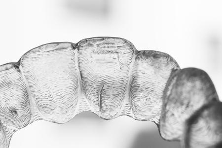 Invisible plastic bracket teeth dental aligner orthodontic straighteners.