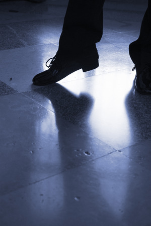 Ballroom latin salsa dancer dancing in modern sport dance show in reception hall. Stock Photo