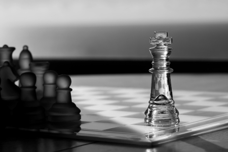 Chess, King  Business Concept - Advertising, Marketing, Exposure, Leadership, success  photo
