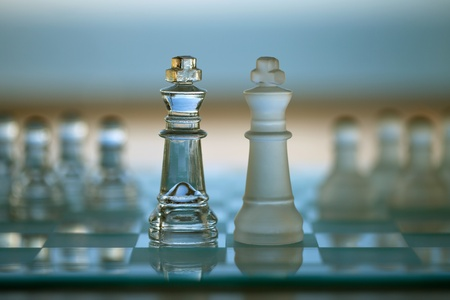 Chess King Piece - business concept - merger, contacts, competition, network, survive, success  photo
