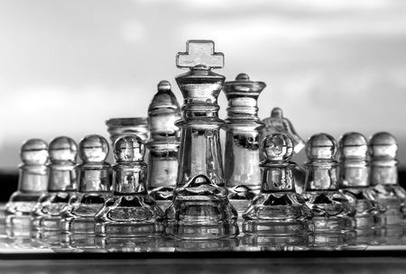 amalgamate: Business Concept - chess pieces - team, company, strategy, leadership, success
