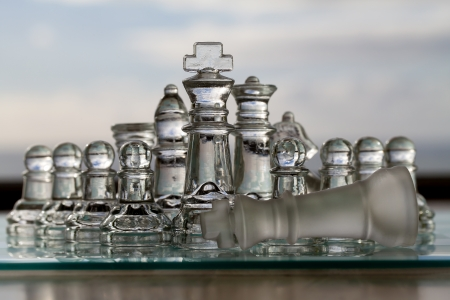 amalgamate: Chess Pieces, Set - Business Concept Series - strategy, competition, win, checkmate  Stock Photo
