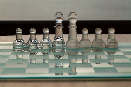 amalgamate: Business Concept - chess pieces - partners, merger, contacts, strategy, success  Stock Photo