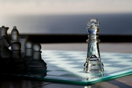 Chess, King  Business Concept Series - advertising, marketing, exposure, coverage, noticed  Stock Photo