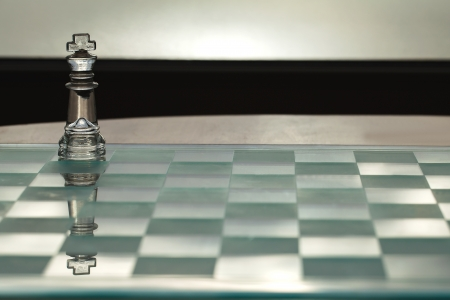 King chess piece - business concept series - CEO, leadership, mentor, strong, coach, power, success  photo