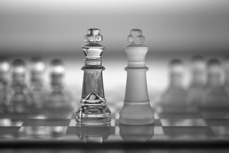 amalgamate: Chess King Pieces - business concept series - merger, contacts, competition, network, survive, success