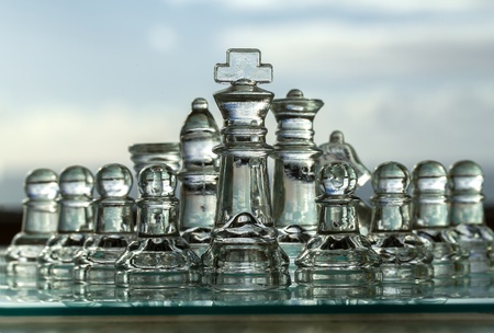 Chess Set - Business Concept Series - team, company, strategy, success, CEO, leadership, win  photo