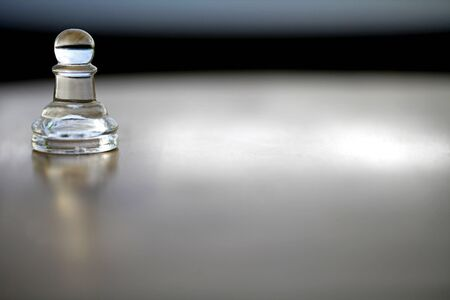 Pawn Chess Piece - lone, simple, classic, minimal - space for text photo