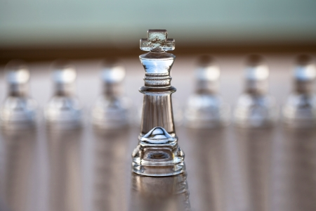 King chess piece - business concept series  CEO, director, mentor, strong, coach, power, success  Stock Photo