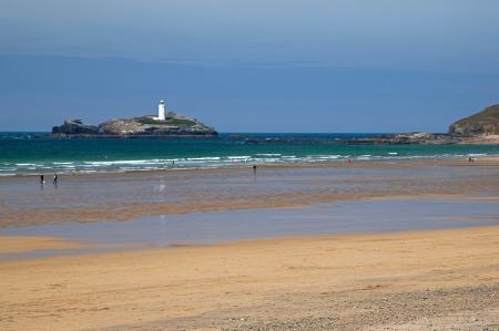 Lighthouse on island, beach, sea, tourism, waves, summer, pretty Stock Photo - 16436184