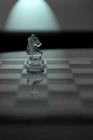 Knight Chess Piece - Business Concept Series: original, lateral thinking, sideways, strategy, innovation. photo