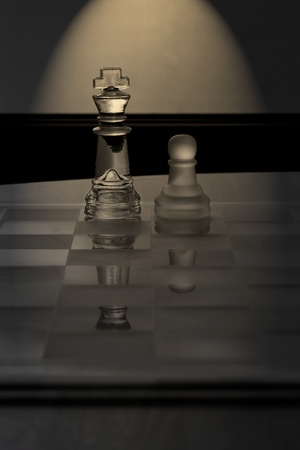 King, Pawn, Chess - Business Concept Series - Mentor, Coach, Guru, Business support, success.