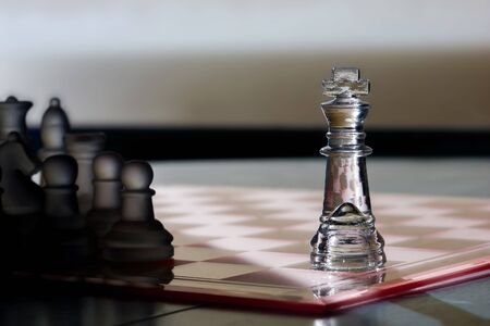 chess king: Chess King  Pieces - business concept series - advertise, marketing, stand out, be seen, sales, strategy, intelligence, power, competition, leadership, player, win.