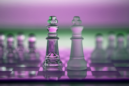 Chess pieces - business concept series - strategy, intelligence, power, merger, competition, leadership, team, player, win, survive.