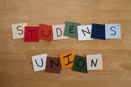 nus: STUDENTS UNION - sign for education, university, college, editorial  Stock Photo