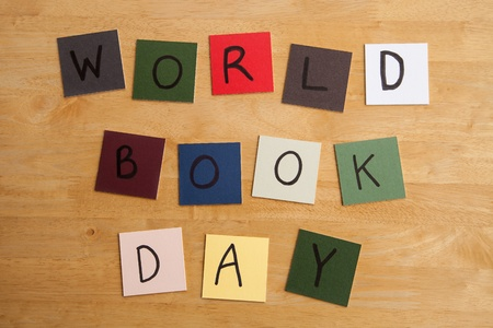 WORLD BOOK DAY - sign for reading, school, teaching, education Stock Photo - 17546953