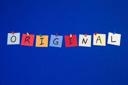 business products: ORIGINAL - sign for business products and thinking