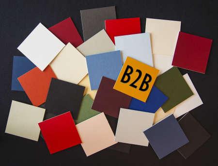 b2b: B2B - signo Foto de archivo