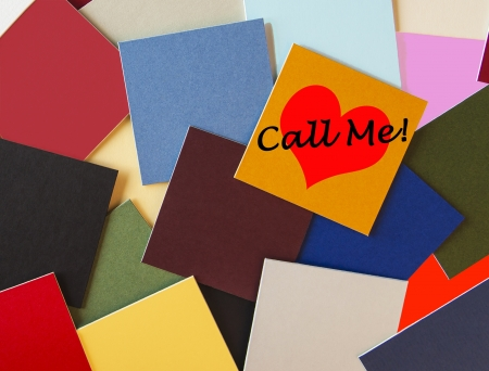 notelet: Call Me - sign
